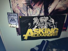 The Still Reckless Signed Asking Alexandria Poster by xMasqueradedFacesX
