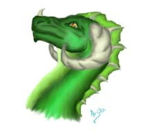 The Green Dragon by Arijka22