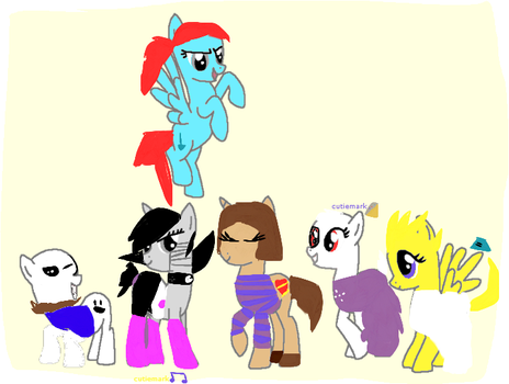 Undertale/mlp group picture by solarelcipsethepony