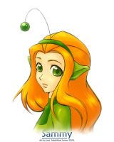 TS100 -1- Green Alien Girl by KatiraMoon