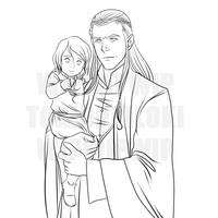 Elrond and Estel Lines by TokiDokiLoki