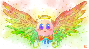 Kirby Art 010 - Cupid(Angel) by D685ab7f-pis
