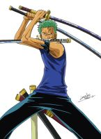 Roronoa Zoro - One Piece by Lerailen