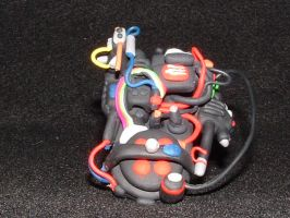 Proton pack sculpture by ProfessorThorn