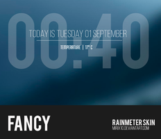 Fancy 1.0 - Rainmeter Skin by Mirix10