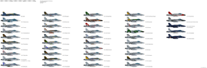 Mcdonnell Douglas FA-18 Hornet US Navy Squadrons by darthpandanl