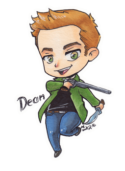 Dean Winchester chibi by roryalice