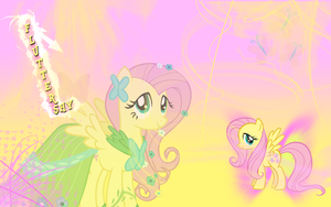 FiM: Fluttershy Wallpaper by M24Designs