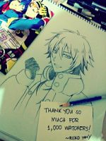 [DMMd: Aoba] Thanks for 1000 Watchers! by riiko23