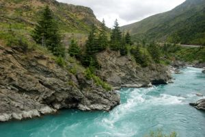 NZ Blue river blurry by Chunga-Stock
