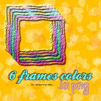 6 PNG frames colors by xblaackparadex