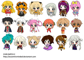 Chibi Commission Batch 2 by eccentricminded