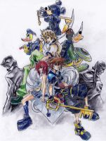 Kingdom Hearts 2 Everyone by Ravenspiritmage
