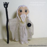 Beaded doll: Saruman (Lord of the Rings) by crafty-maika