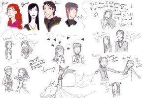 Fairy Tale Novels: Sketches by Mahira-chan