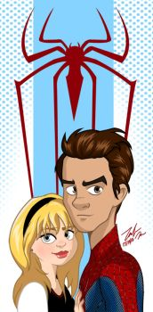 Peter Parker and Gwen Stacy by PieIsADessert