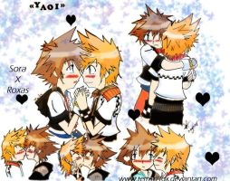 Sora+Roxas is yAoI by temari-fox