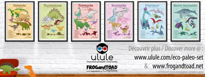 ECO PALEO SET posters by FROG-and-TOAD