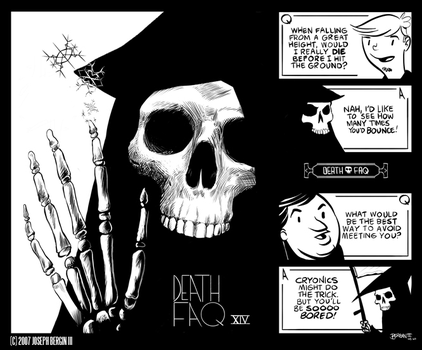 DEATH FAQ XIV by sayunclecomics