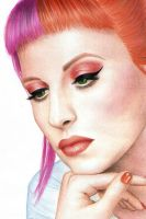 Hayley Williams for MAC by Frusska