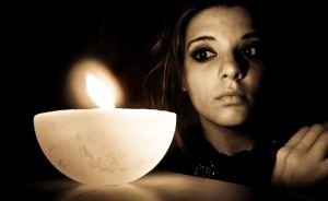 Candle Lit Girl by hlibis