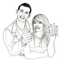 The Ninth Doctor and Rose by JennHolton