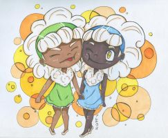 Whimsicott Sisters by KittyNii
