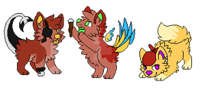 Pixel Dogs Batch 3- Open - Pirate Crew by Adopts-From-Beyond