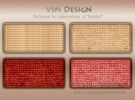 Patterns for photoshop - 4 Textile by elixa-geg