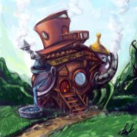 Mad Hatter's House Concept Art by Angela-Song-Art