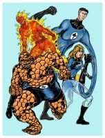Fantastic 4 by VincentBryantArt