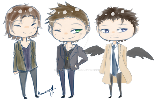 -PC: Dean, Sam, and Cas- by Remorsery
