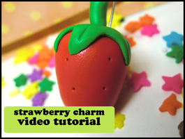 Cartoony Strawberry Tutorial by GrandmaThunderpants