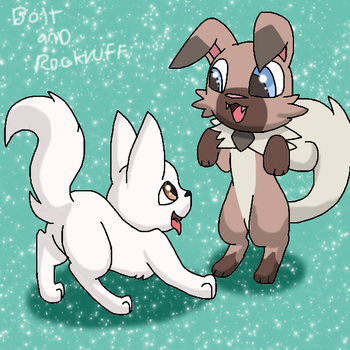Bolt And Rockruff by lopez765