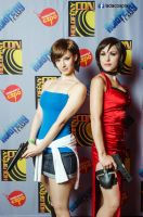 Jill Valentine and Ada Wong by AdaCroft