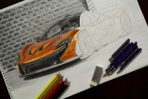 McLaren P1 WIP by orhano