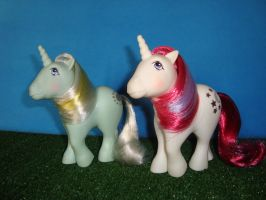 My Little Pony Toy 80's - Sunbeam and Moondancer by GraphicPlanetDesign