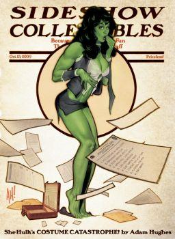She-Hulk Litho by AdamHughes