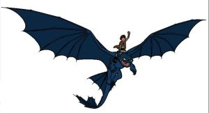 HTTYD - Toothless + Hiccup by halo-again