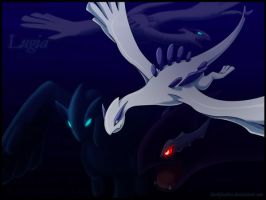 Another Lugia Wallpaper by DarkFeather