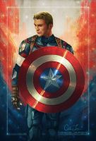 Captain America by cmloweart