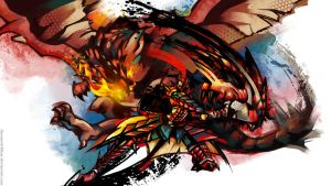Monster Hunter Rathalos by TheOneWithBear