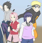 Naruto And Friends Colored  by Blueskys33