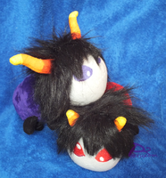 Karkat and Gamzee Grubs by kiashone