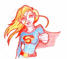 Supergirl Sketch by Pencilbags