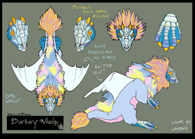 Barbary Whelp contest: Opal whelp by uropygid