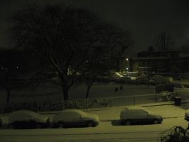 Snow at Night Stock by prudentia