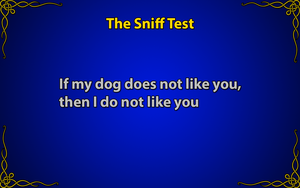 The Sniff Test by JanetAteHer