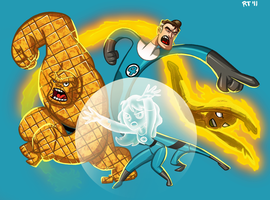 Tom Bancroft's Fantastic Four by sketchandthecity