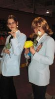 Tamaki and Honey cosplay by Snappedragon